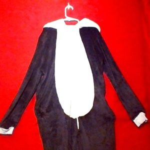 Medium full body panda onesie